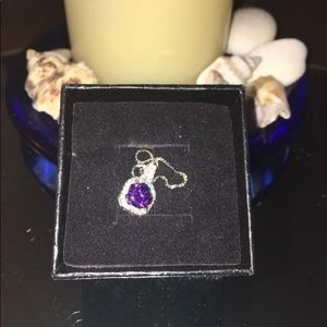 Jewelry - Silver Necklace with Amethyst Pendant